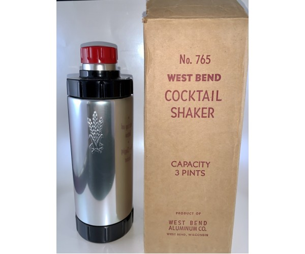 West Bend 1933 Cocktail Shaker Mint in Box!