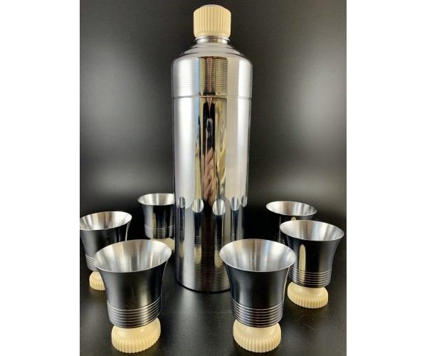 Mint Chase White Doric Cocktail Shaker set, Original Box