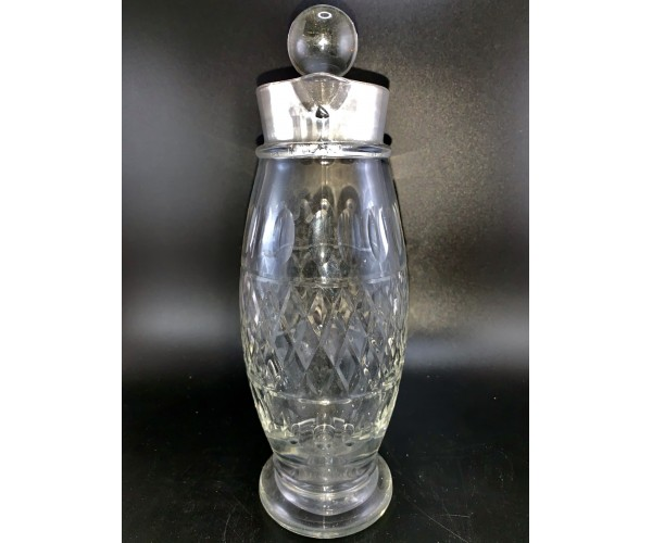 Vintage Cambridge Glass Patterned Cocktail Shaker