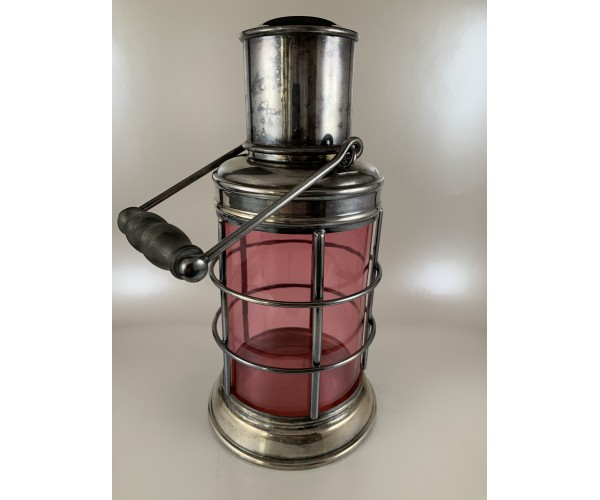 Asprey Ships Lantern Port Cocktail Shaker Red Glass
