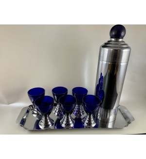Chase Blue Moon Cocktail Shaker set Mint in Boxes