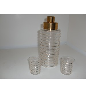 Beautiful Gold Striped Cocktail Shaker Set