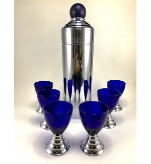 Chase 1935 Blue Moon Cocktail Shaker set