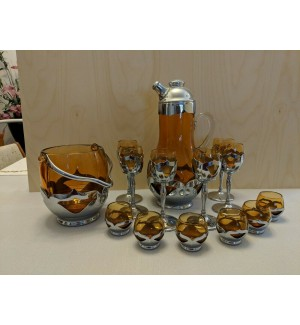 Very Rare Amber Farber Bros-Cambridge Cocktail Shaker Set