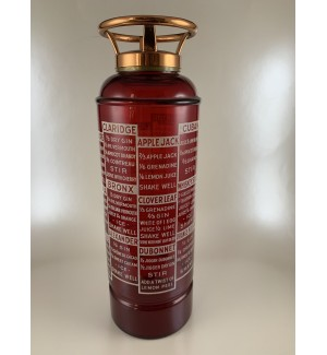 Ruby Red Vintage Fire Extinguisher Cocktail Shaker