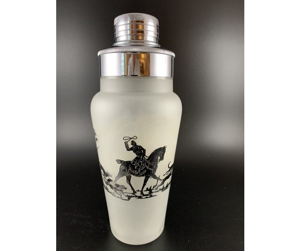 Sterling Silver Overlay Frosted white Cocktail Shaker