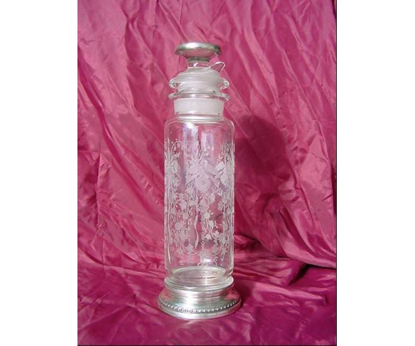 Heisey Sterling Orchid Cut Glass Cocktail Shaker