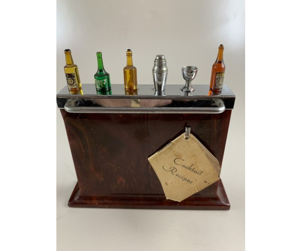 Vintage Harris Dunn Bakelite Cocktail Bar in Original Box