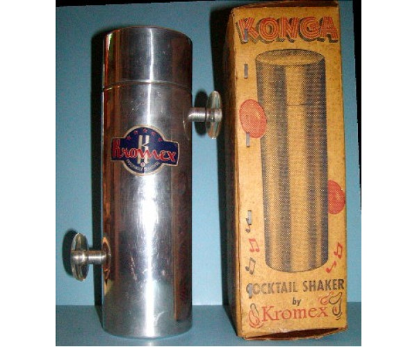 Konga Clear Knobs Cocktail Shaker with original Label and Box