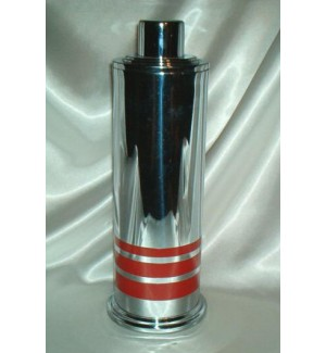 Manning Bowman Red Striped Diana Cocktail Shaker