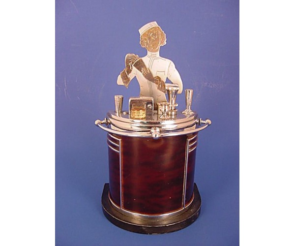 Ronson Art Deco Touch Tip Barmaid Lighter