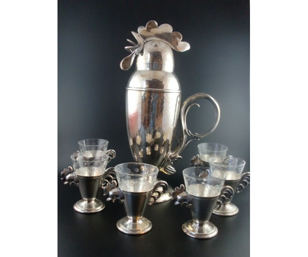 Wallace Brothers Rooster Cocktail Shaker Set